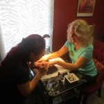 Cherie starting with her mani