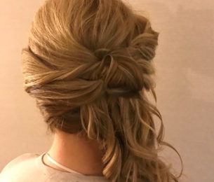 Curled & Twisted Side Pony Updo