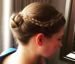 Low Chignon with Side Braid